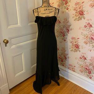 Vintage 90s Y2K Formal Black Slip Dress